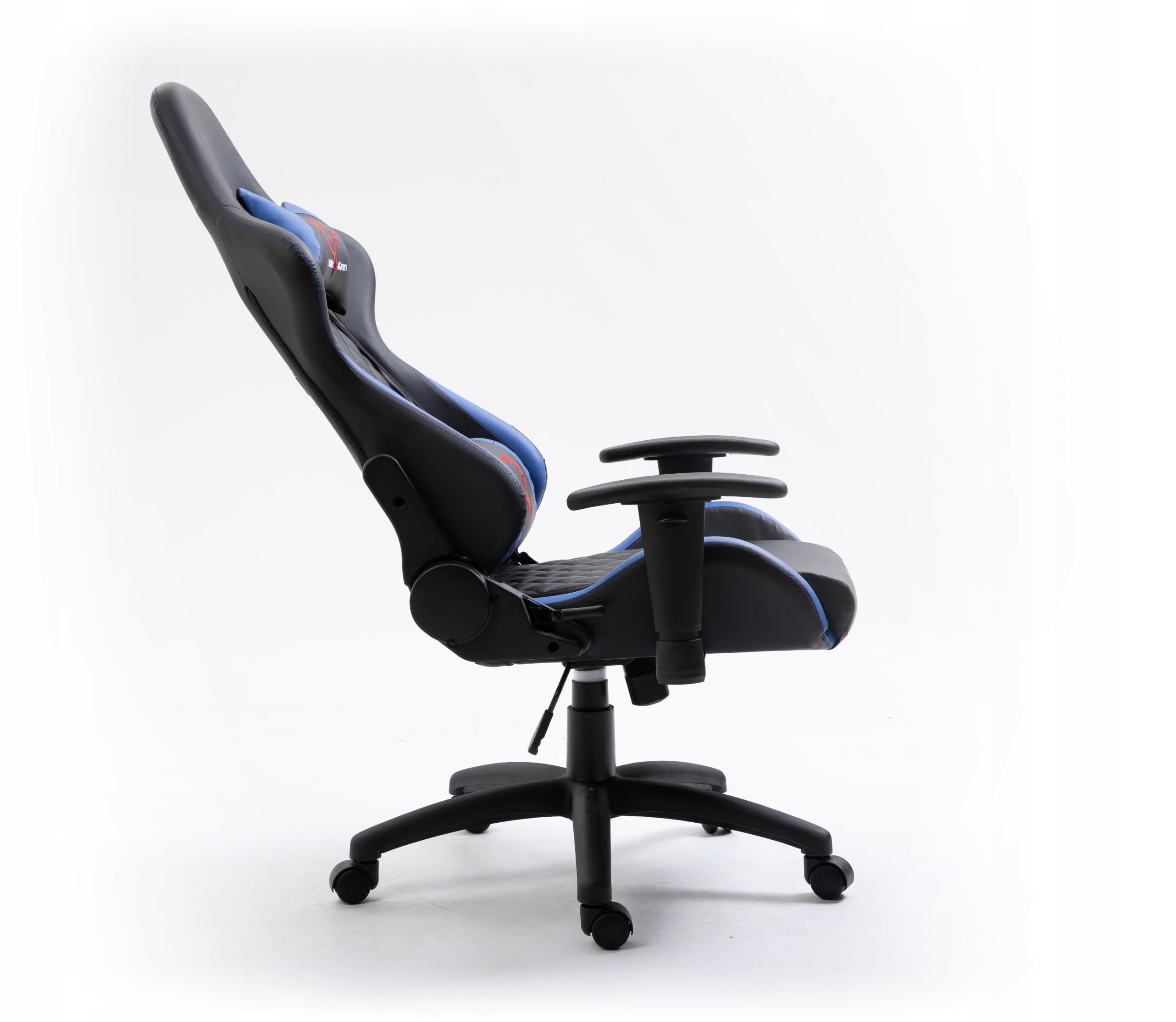 КРЕСЛО ИГРОВОЙ ПОВОРОТ F4G FG40 HQ СИНИЙ Ширина мебели 68 см.