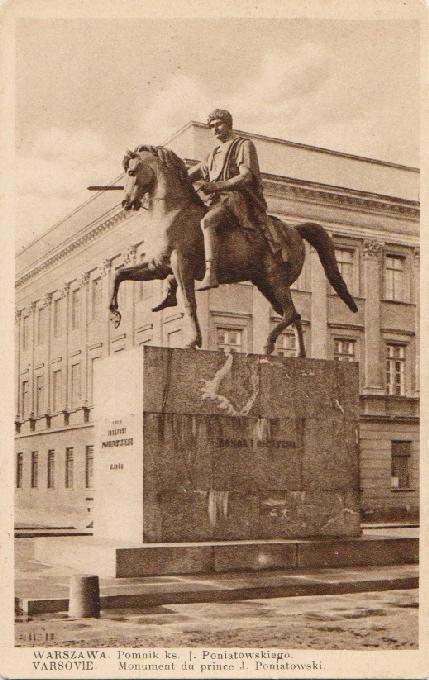 Varšava. Pamätník fr. Poniatowskiego. Jankowski