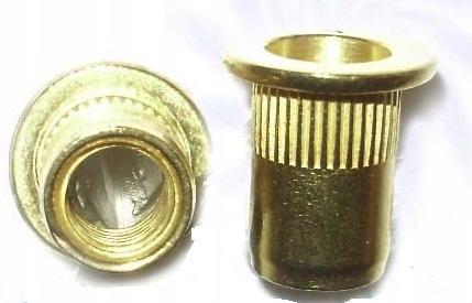 M4 Nitónová skrutka Brass Ko. Flat (10 ks)