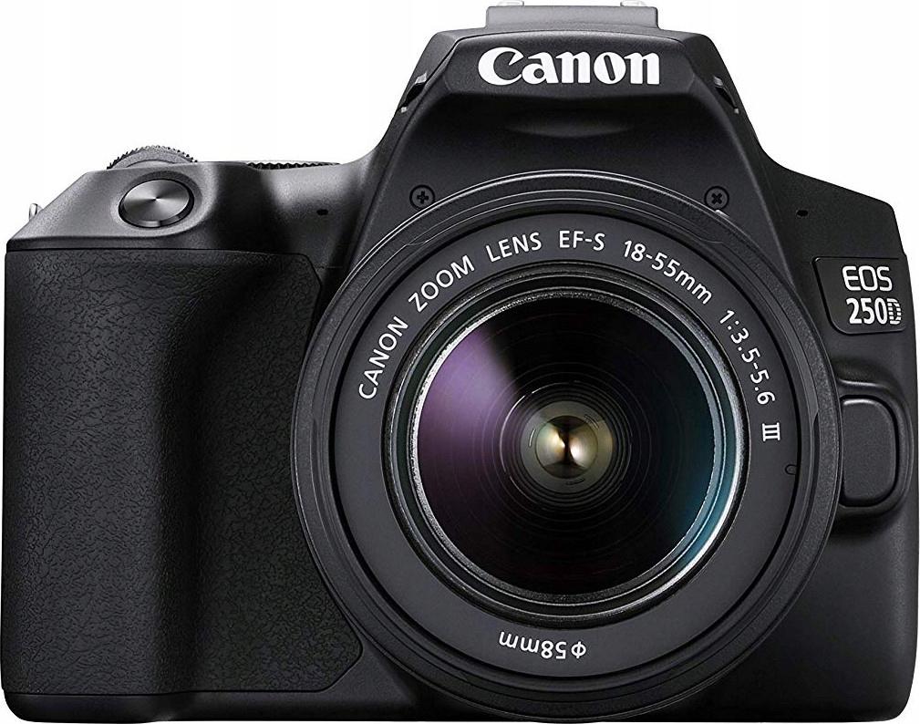 Купить CANON EOS 250D WI-FI 4K + 18-55 III + GRATISY на Otpravka - цены и фото - доставка из Польши и стран Европы в Украину.