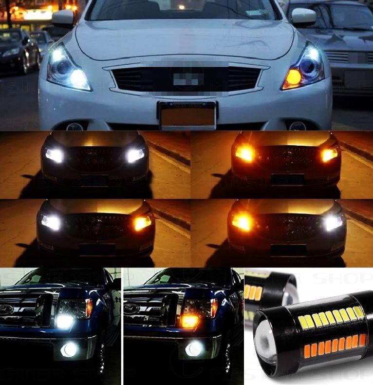 Picture of 2W1 DAYTIME RUNNING LIGHT TURN SIGNAL DRL 132 LED
