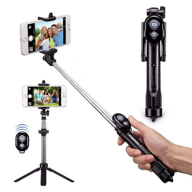 Kijek Do Selfie Stick Tripod Statyw Pilot Bluetoot