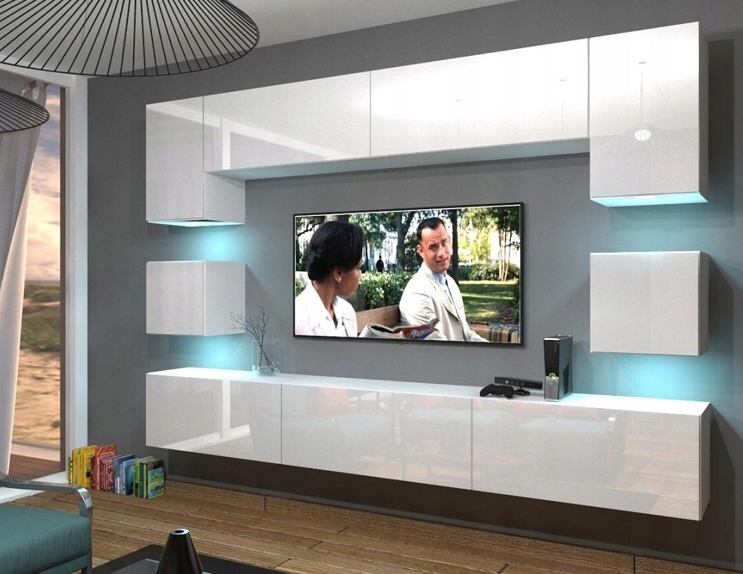 НАБОР гостиная стенка NOWARA N1 блеск Мебель