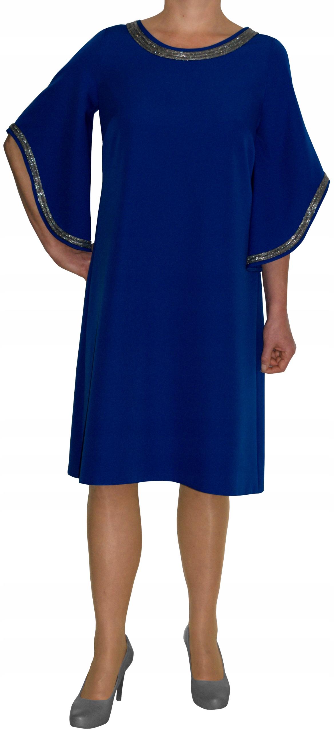 Sukienka trapez elegancka wizytowa chaber r 46