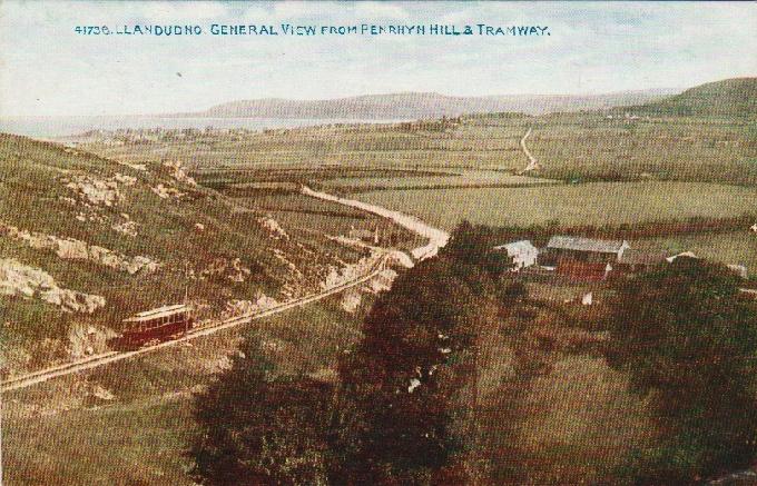 Llandudno. Pohľad z penrhryn Hills & Tramway