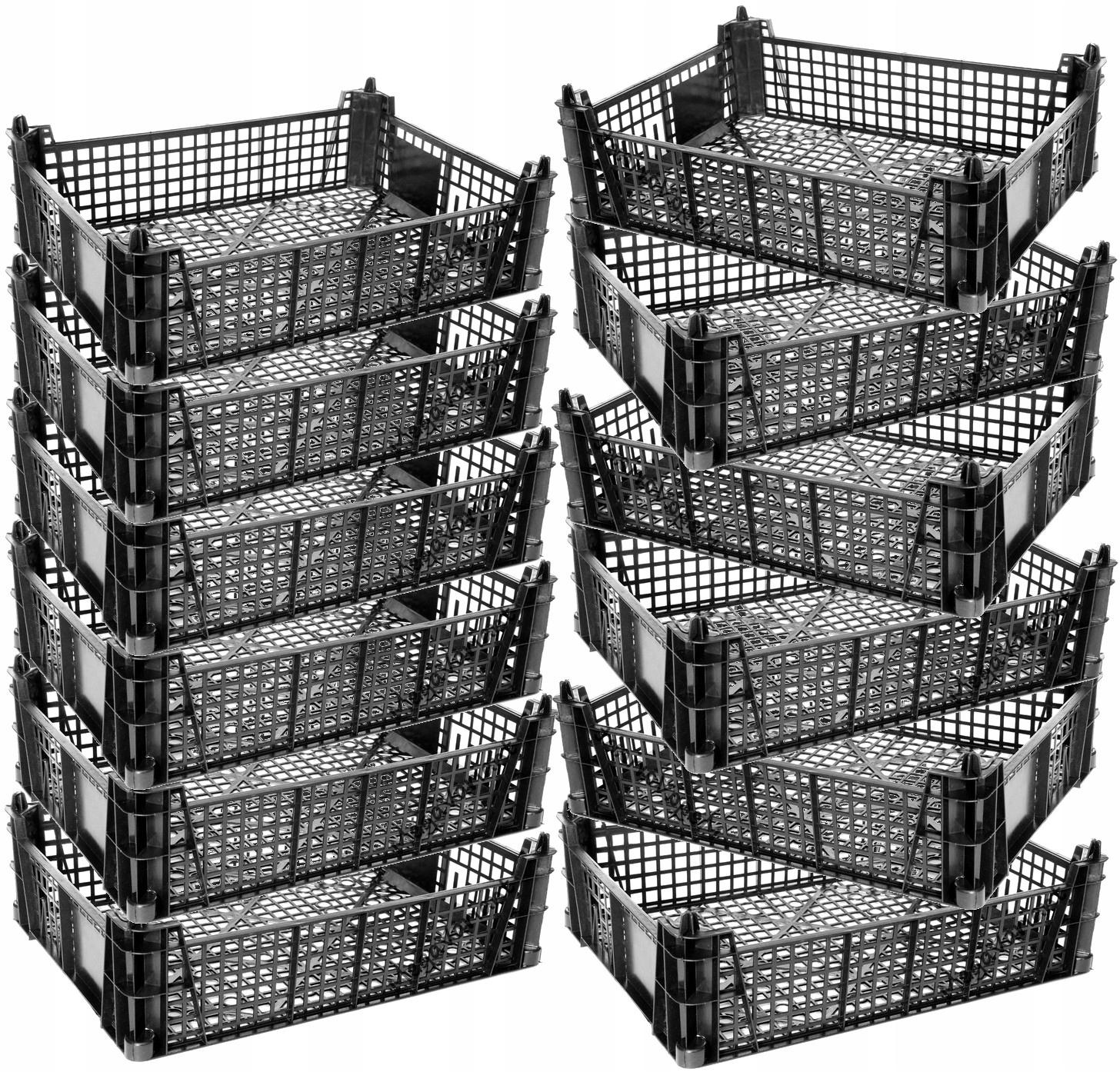 12 sztuk SKRZYNKA POJEMNIK PLASTIKOWY KOSZ KOSZYK