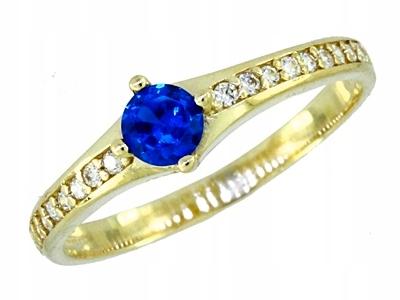 krúžok gold 585 - Saphir R. 13 - Rokarte