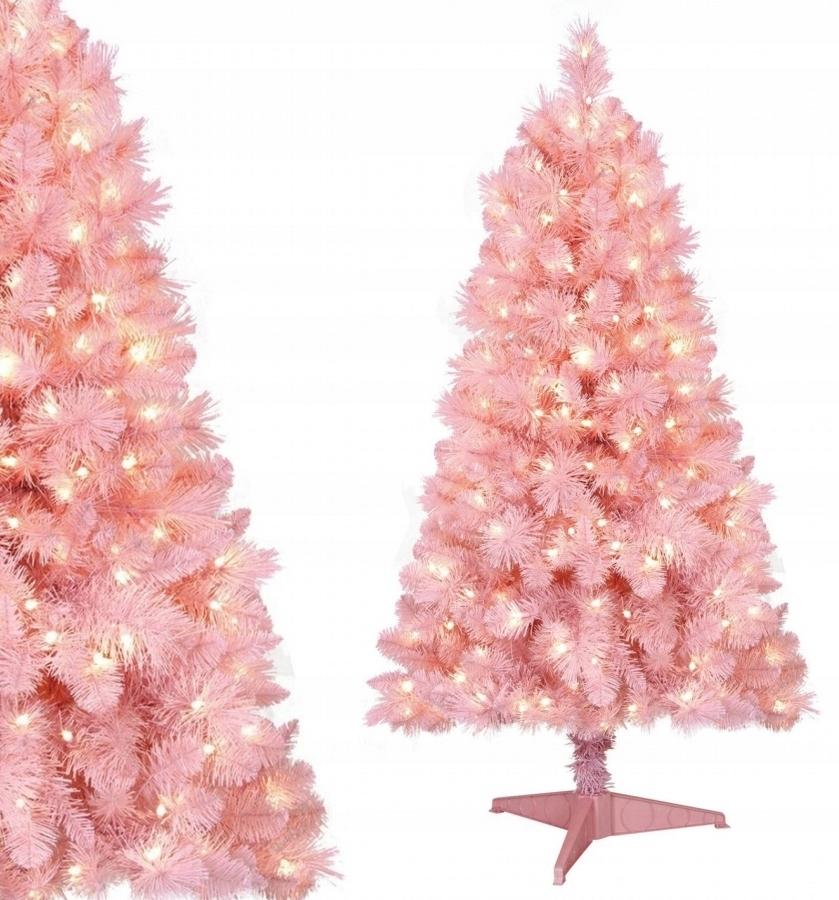 Umelý vianočný stromček PINK FIRST 200 cm hrubý stojan