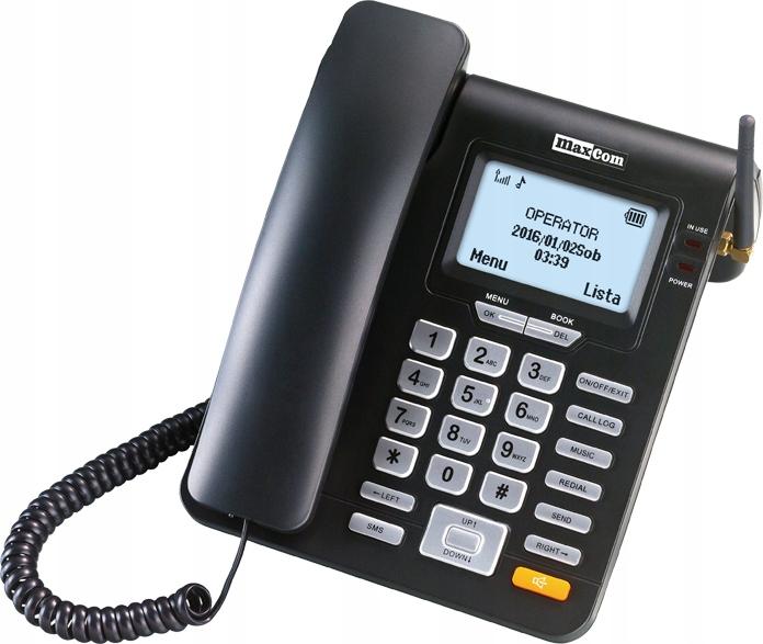 TELEFON STACJONARNY NA KARTĘ SIM MAXCOM MM28D