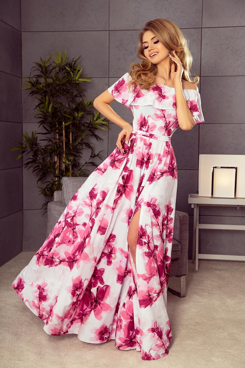 Letnia Sukienka Hiszpanka Maxi Wesele 34 Xs