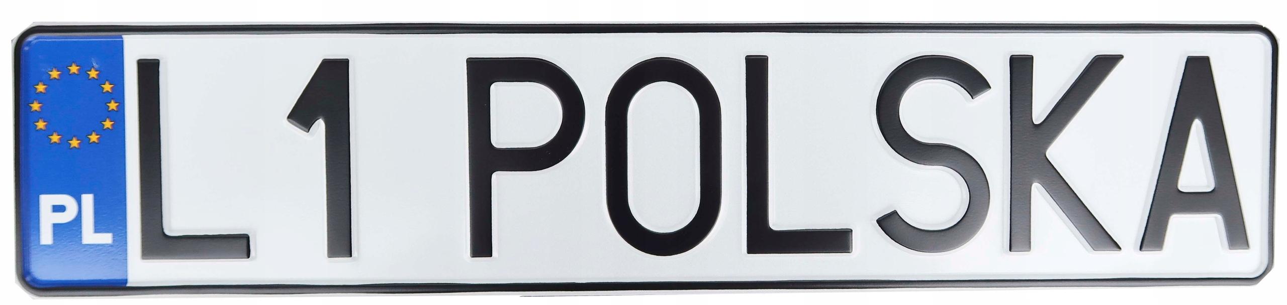 Табличка для польских регистрационных рамок
