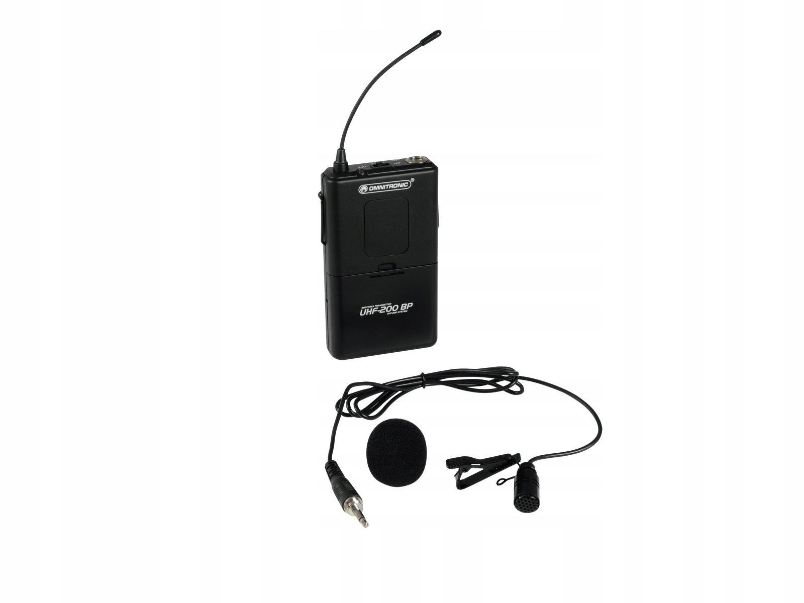 Omnitronic UHF-200 BP BodyPack / vysielač 824,925MHz