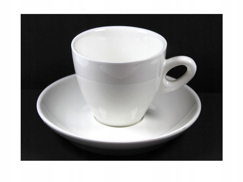Keramický pohár s bielym tanierom