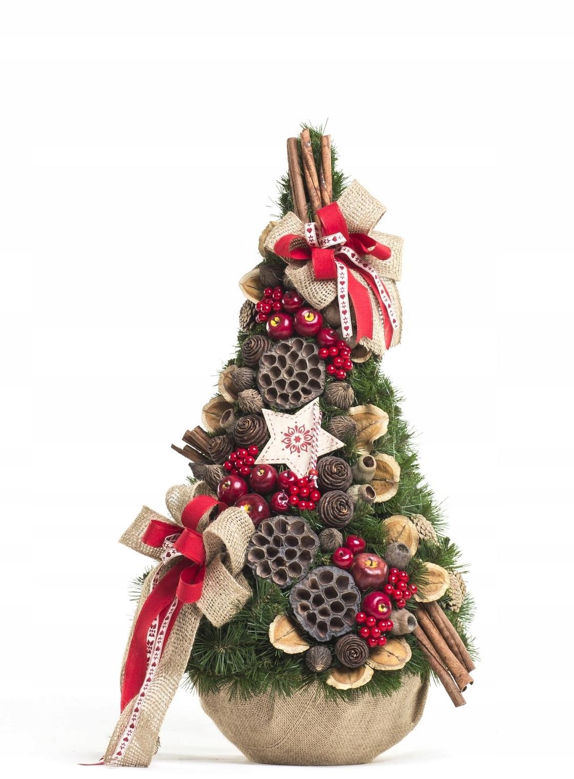Vianočný stromček, šiška, zdobený Etnom, 75 cm