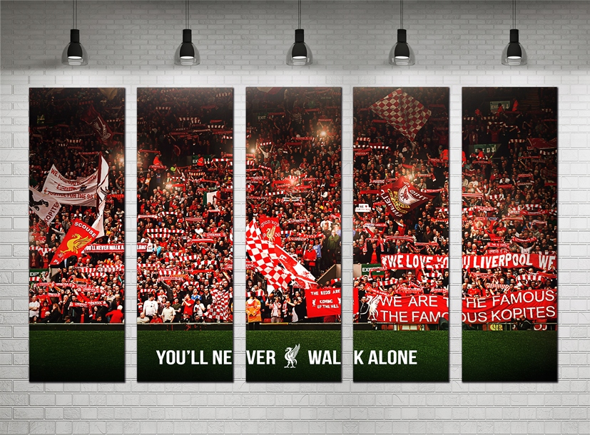 FC Liverpool Anfield Road Vás'll Never Walk Alone