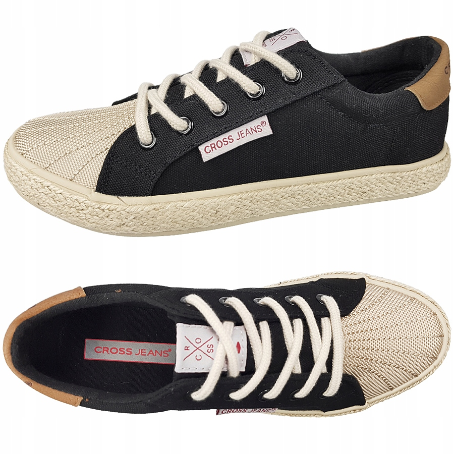 Trampki Cross Jeans damskie czarne DD2R4093 38