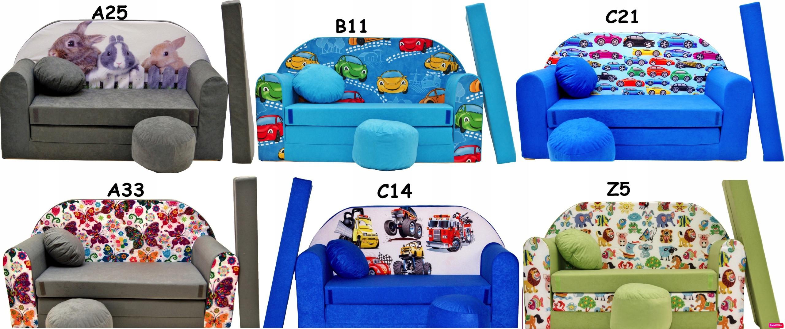 Rozkladacia pohovka pre deti posteľná poduška EAN 5903268303416