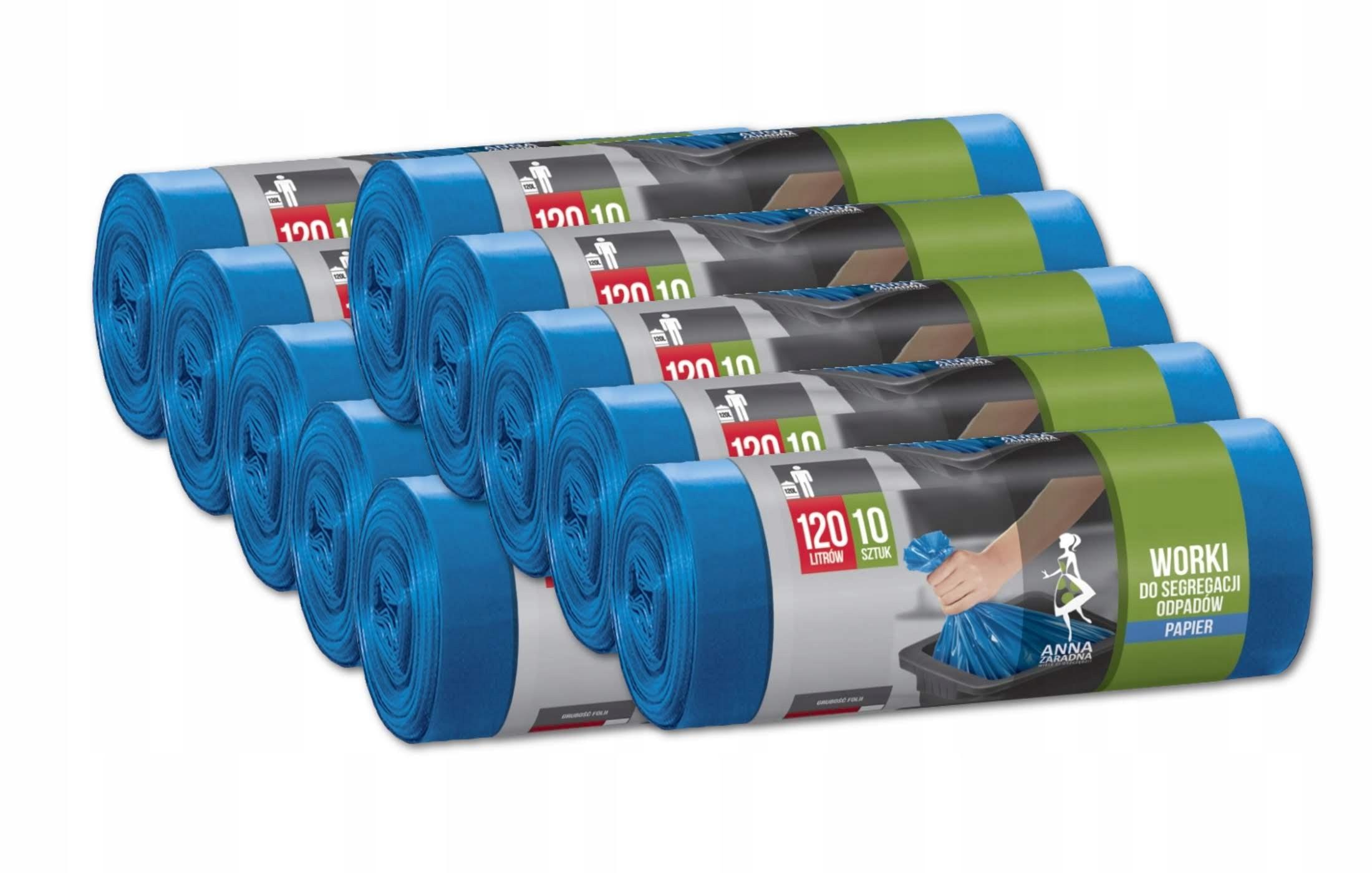 Odpadkové vrecia odpadkov triedenie 120 10 x 10 OTEC