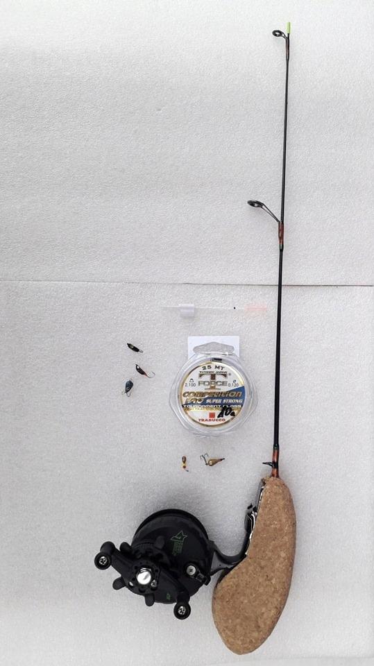 rybársky prút na rybolov na ľade, RYBY, + ŽELEZO VLK príslušenstvo pre chrobák