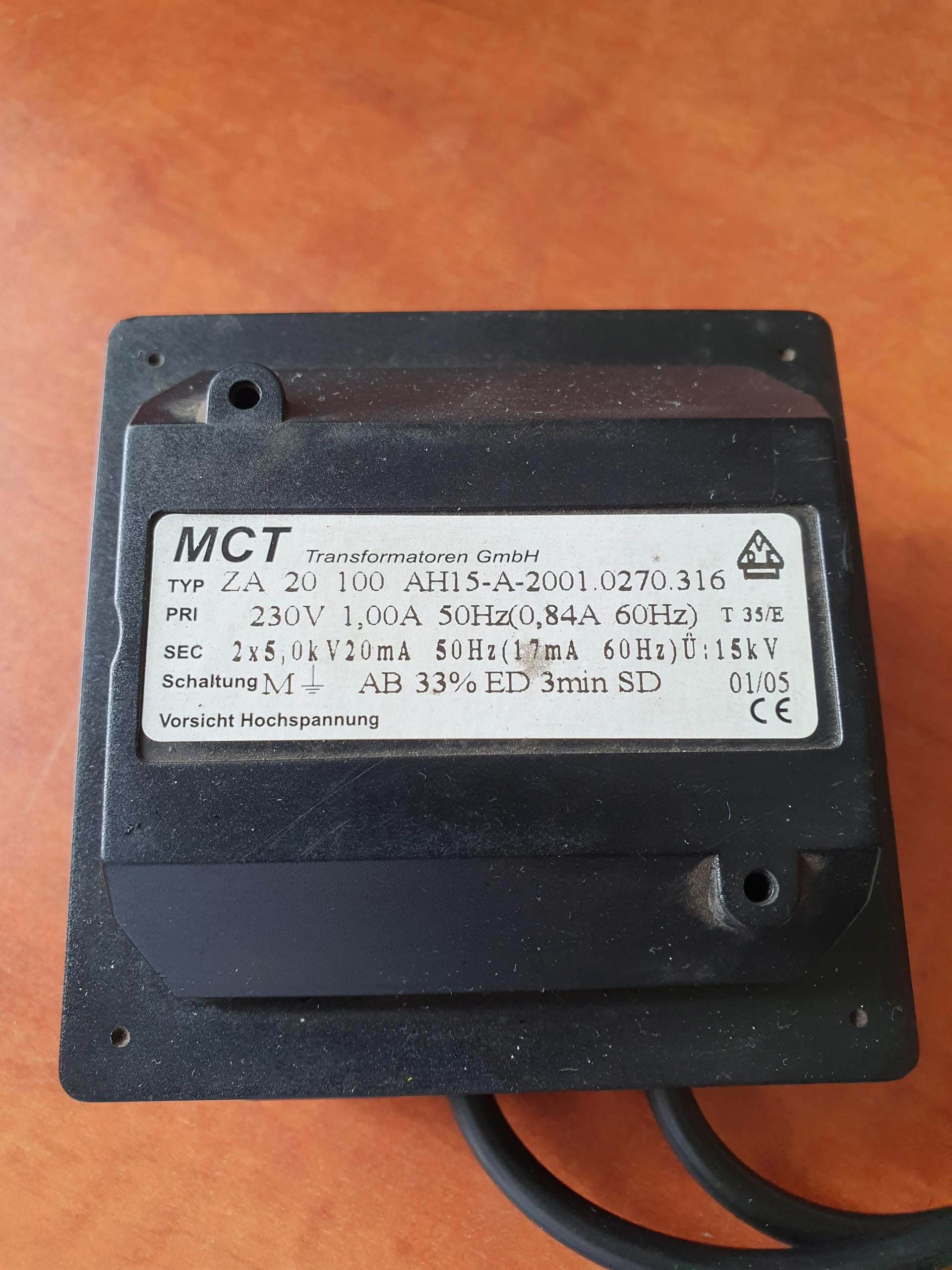 Transformator Wysokiego Napiecia Mct 8395511766 Allegro Pl
