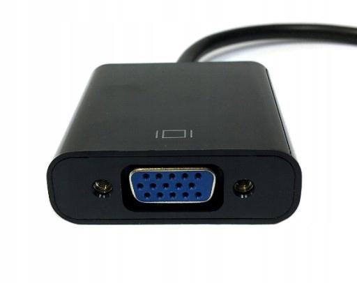 ADAPTER Omformer fra HDMI til VGA -kabel DSUB -skjerm Produsent Gembird