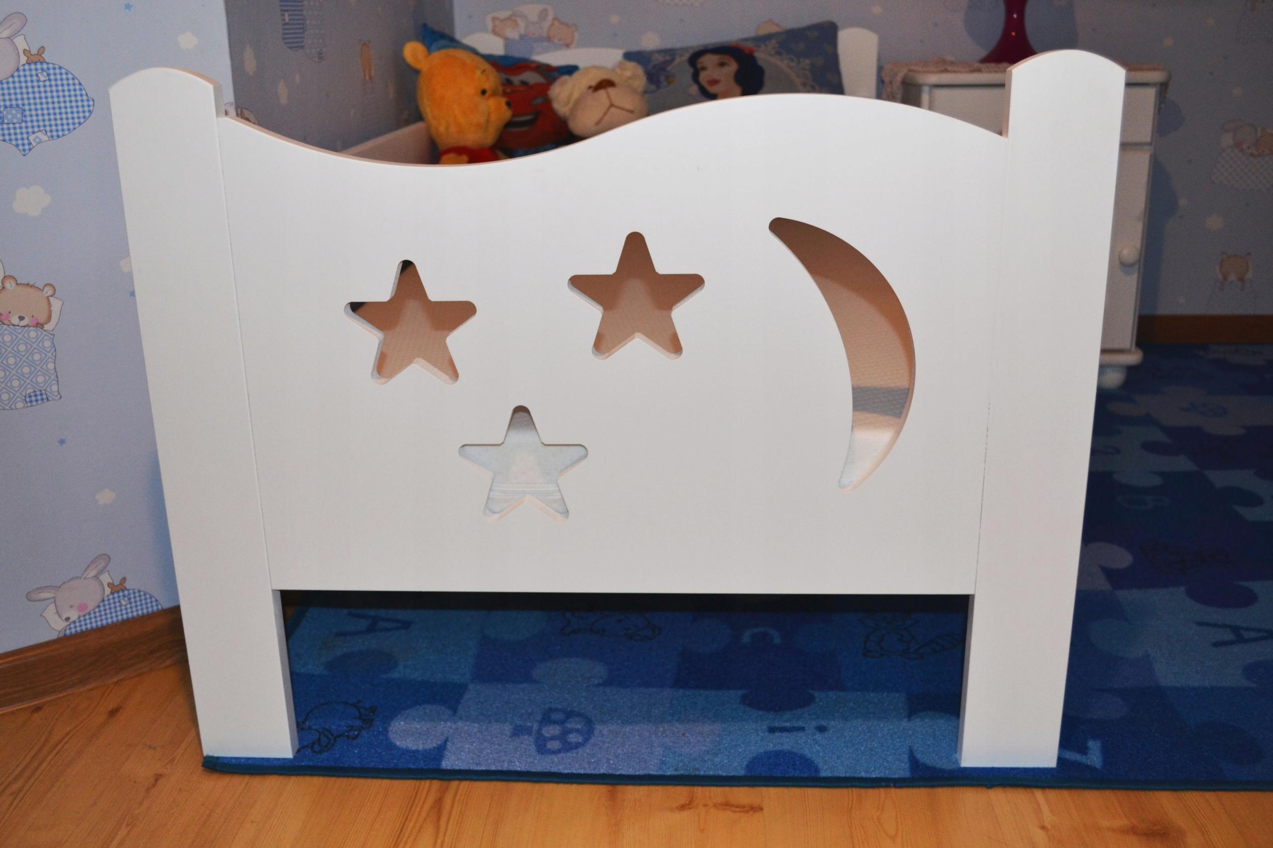 Śliczne łóżko dziecięce 160x80 białe Długość 165 cm