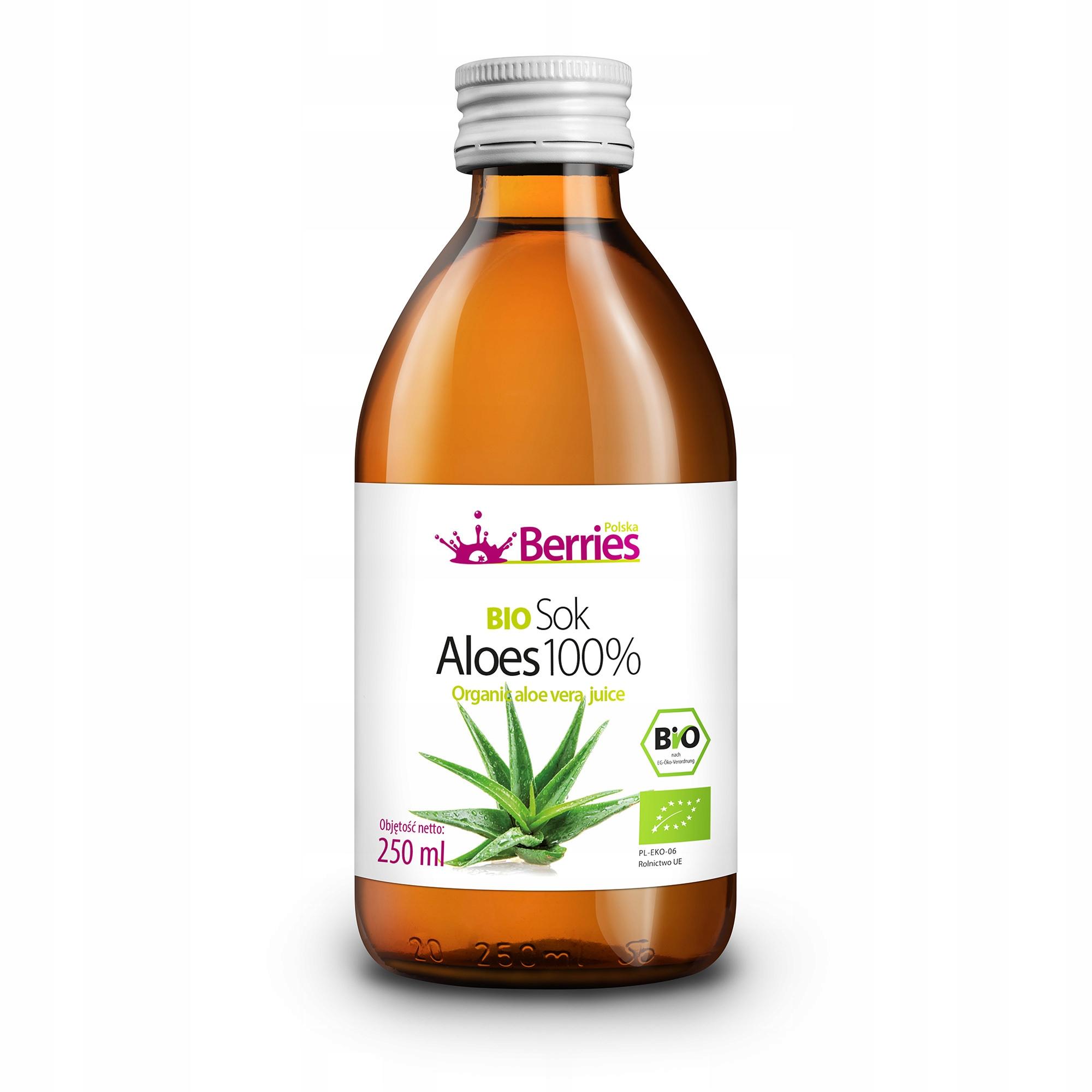 Sok BIO Aloes 100% ekologiczny sok z aloesu 250ml