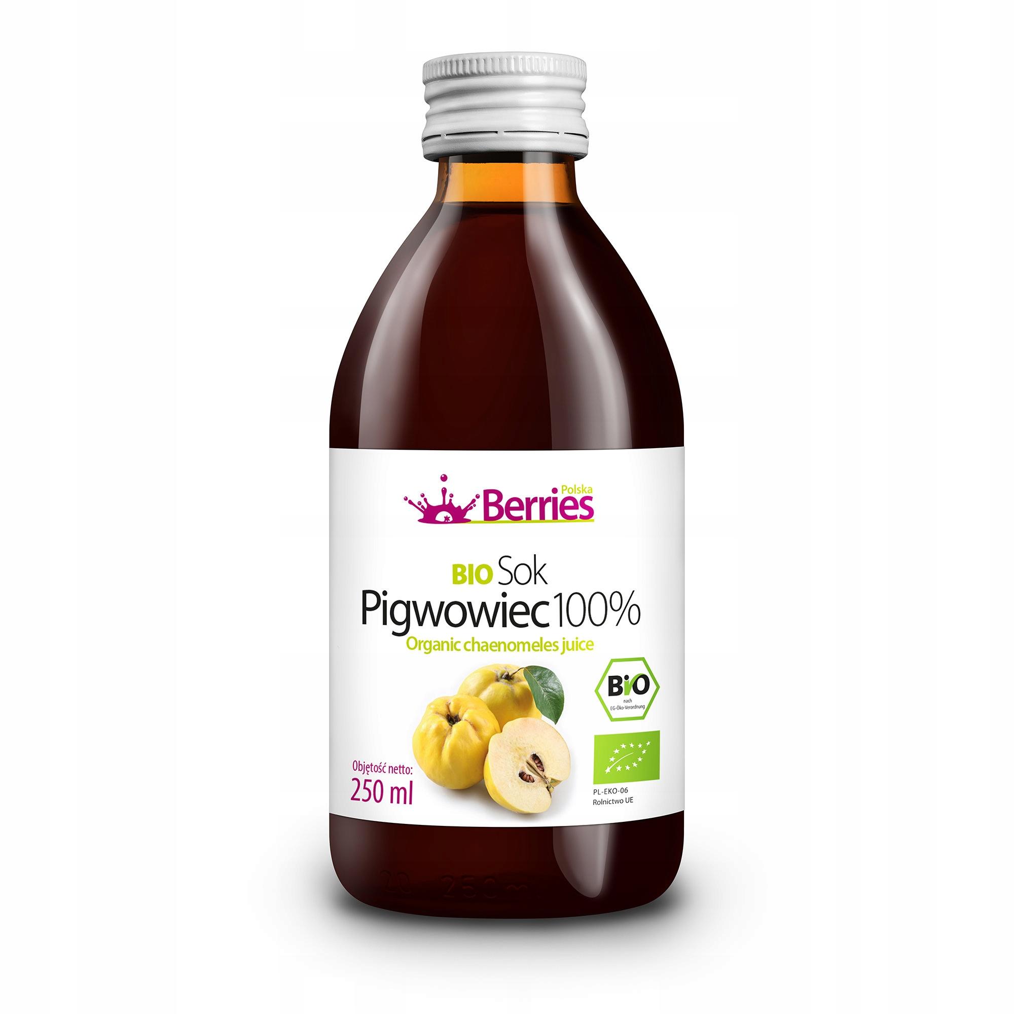 Sok BIO Pigwowiec 100% sok z pigwowca pigwa 250ml