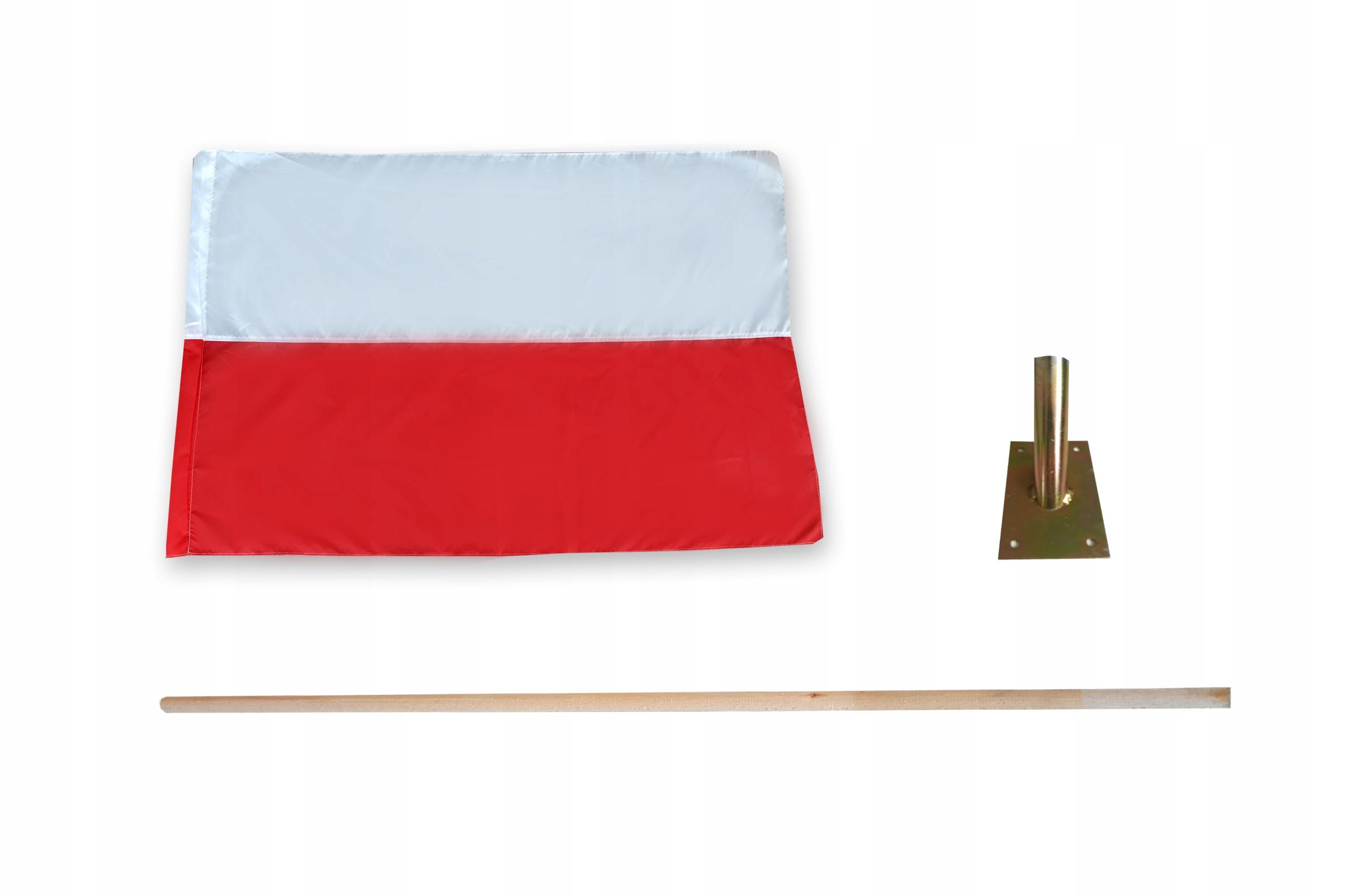 Купить КОМПЛЕКТ НАЦИОНАЛЬНЫЙ ФЛАГ ПОЛЬШИ +ПАЛКА+ДЕРЖАТЕЛЬ на Otpravka - цены и фото - доставка из Польши и стран Европы в Украину.
