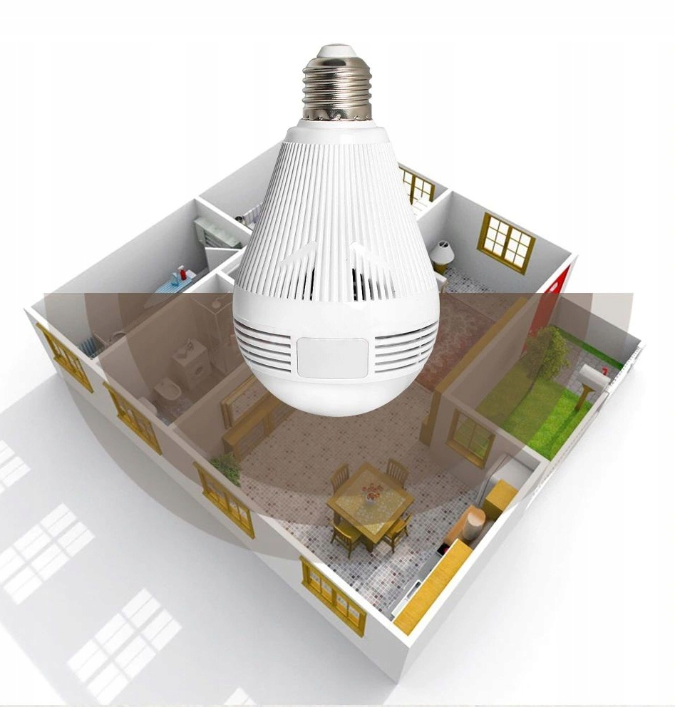 Kamera IP WiFi monitoring 360 w żarówce LED audio Klasa szczelności kamery brak
