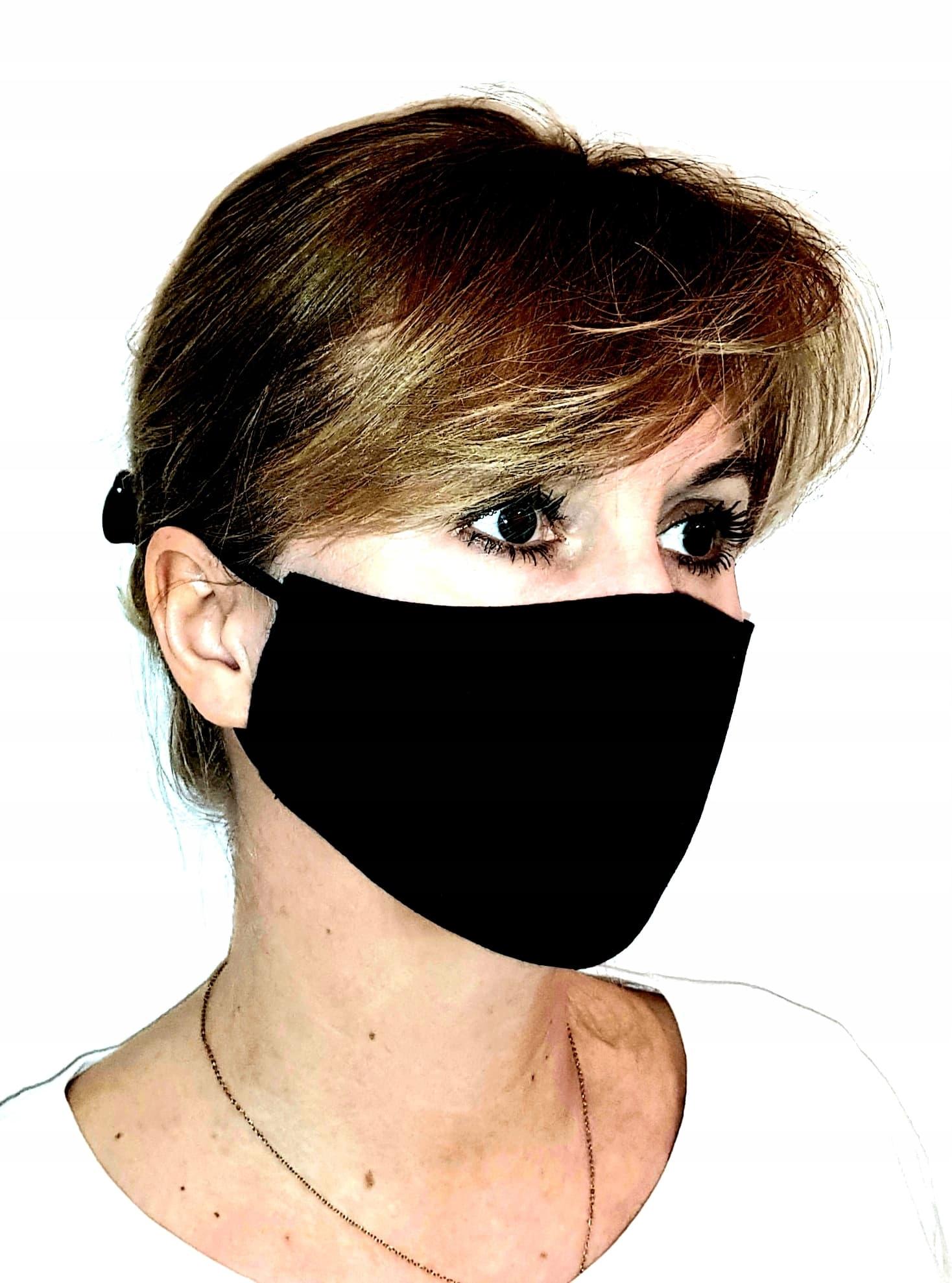 Maska maseczka street wear techwear bawełna czarna