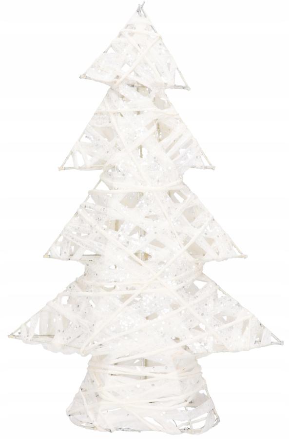 Biely vianočný strom dekoratívne Dovolenka Bububles 40cm
