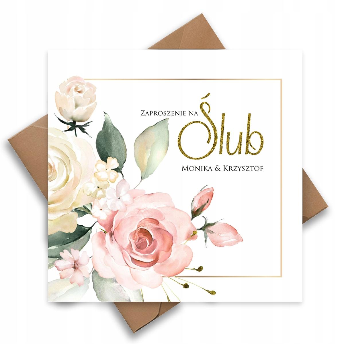 Свадебные приглашения на свадьбу золотыми розами