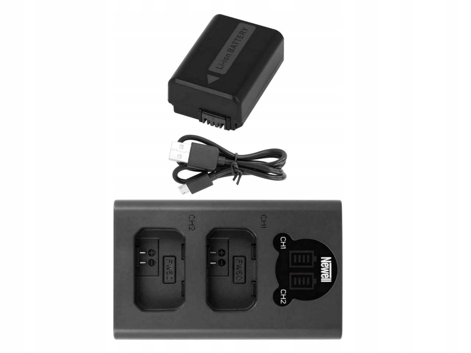 Duálna LCD nabíjačka + nabíjateľná batéria pre SONY NP-FW50