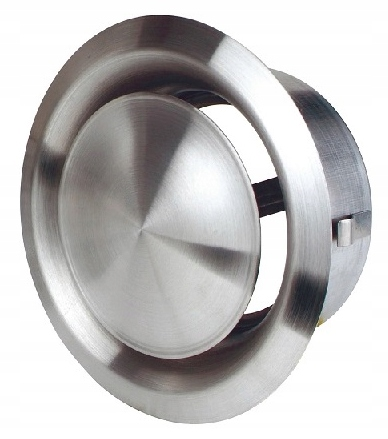 Anemostat CHROM zawór nawiew wywiew 125 mm INOX