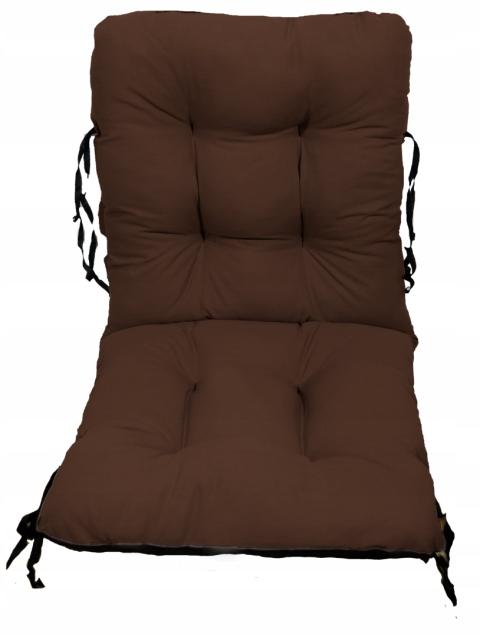 Садовое кресло подушка шезлонг 48x48x48 коричневый
