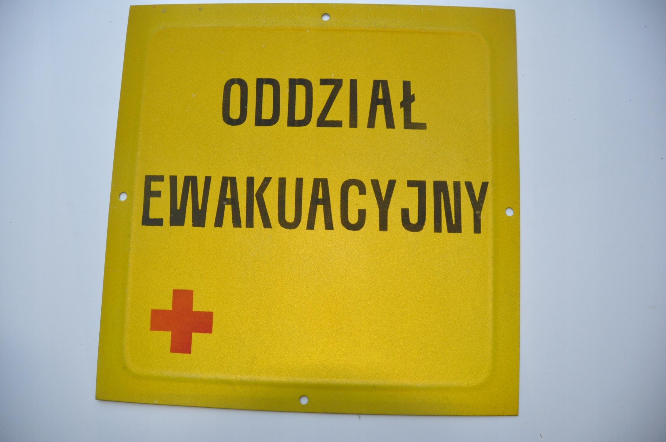 Znak stary ODDZIAŁ metalowy 40x40 LOFT wojsko PRL