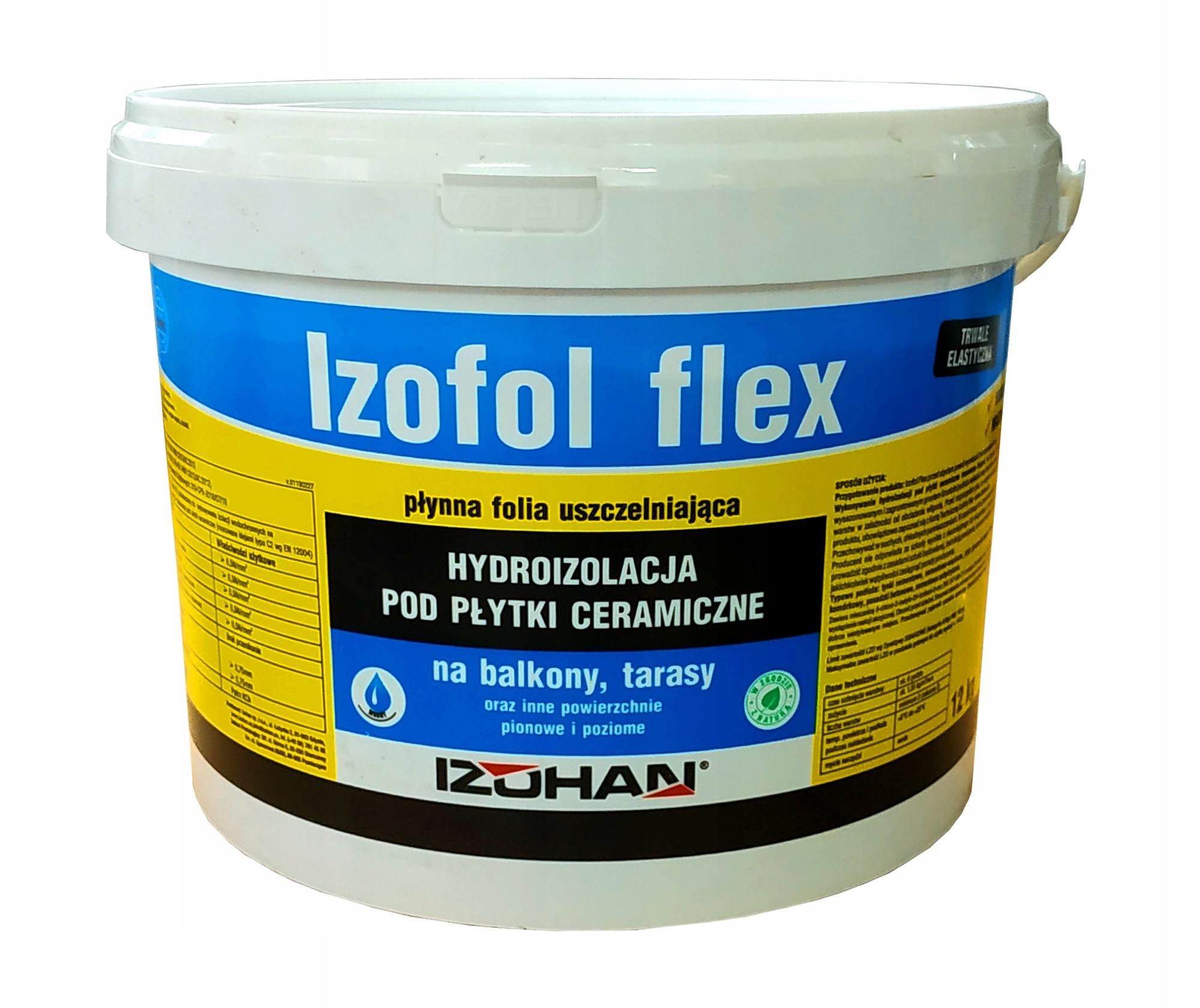 IZOFOL FLEX wydajna folia w płynie elastyczna 12kg