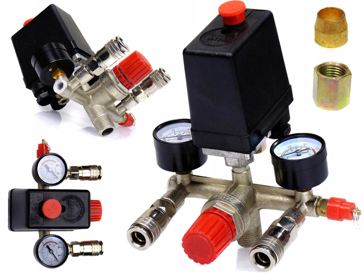 TLAKOVÝ SPÍNAČ 1F + tlakový spínač pre kompresor