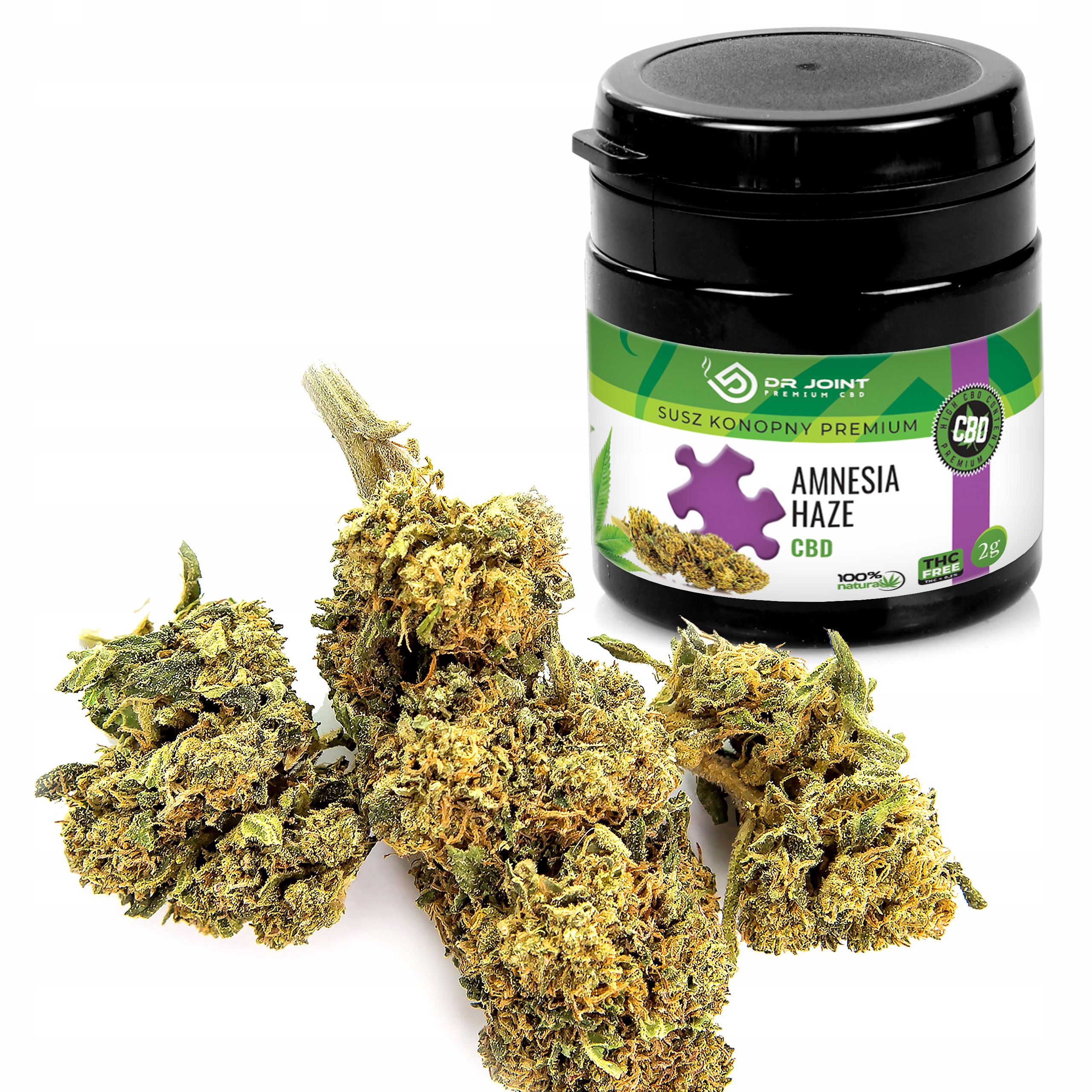 Susz Konopny Premium 39% Amnesia Haze CBD 2 g