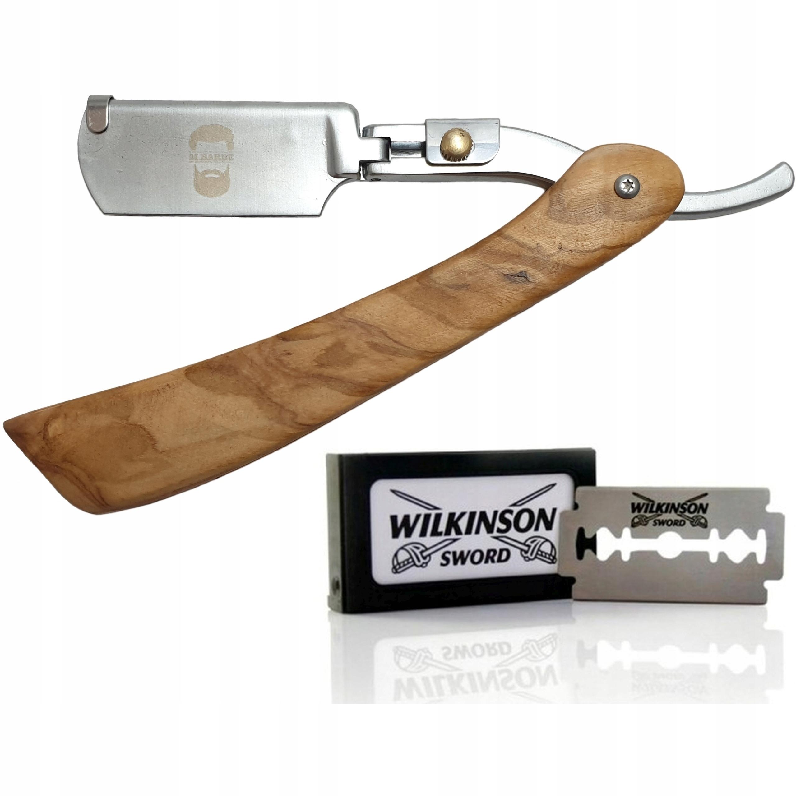 Brzytwa do Golenia M.BARBE + Żyletki Wilkinson