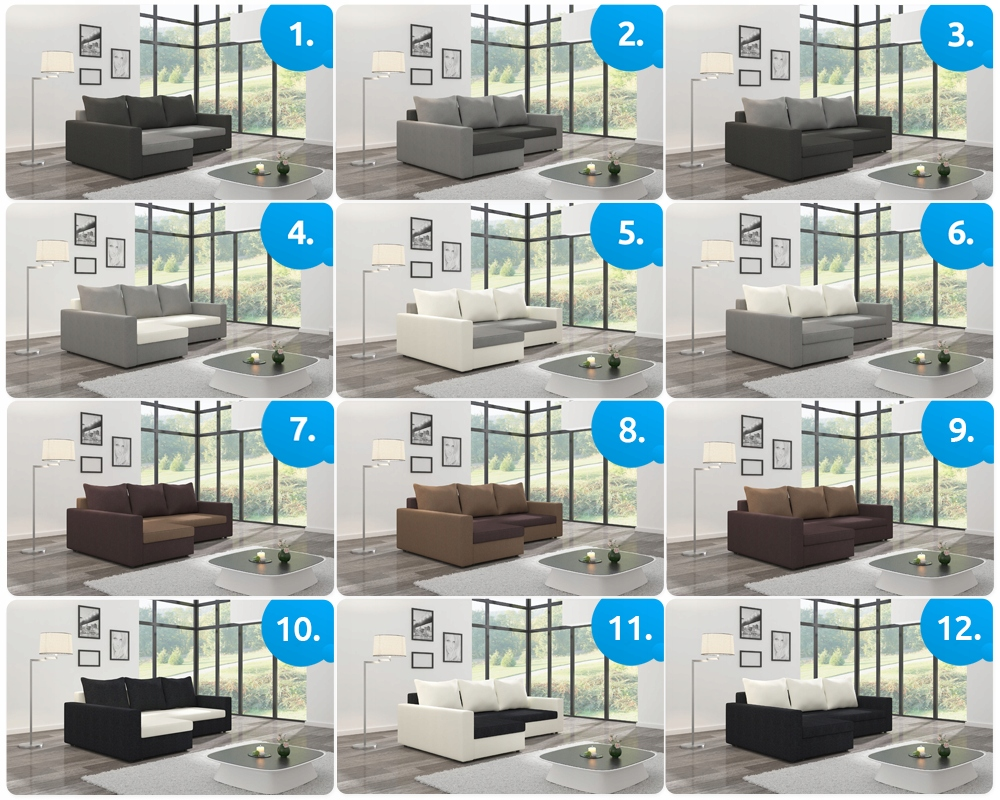Narożnik ARLO 2 ST rozkładany rogówka spania sofa Głębokość mebla 86 cm