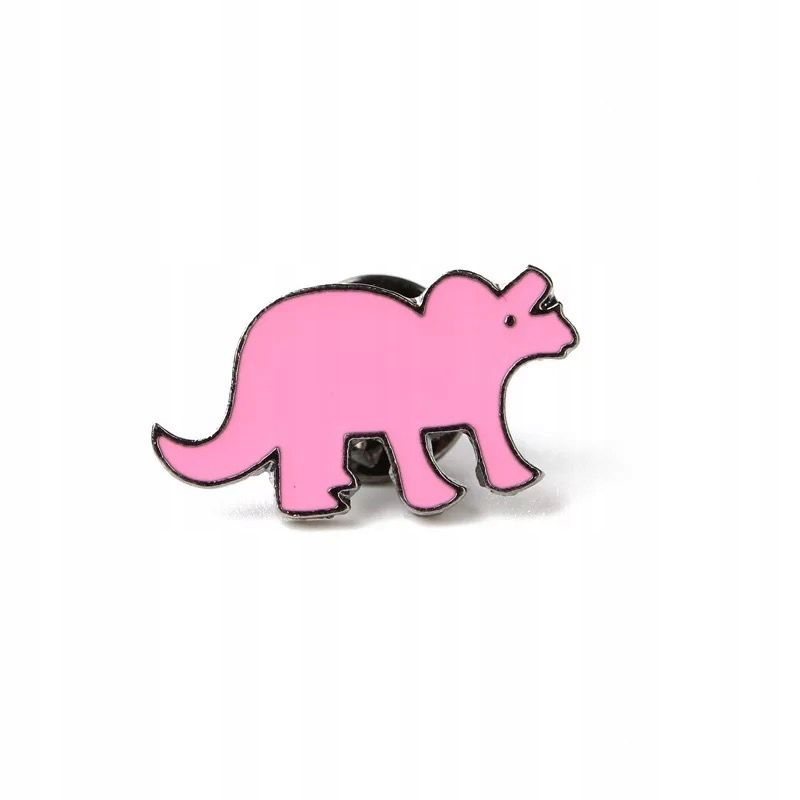 Pins różowy Dinozaur przypinka emaliowana