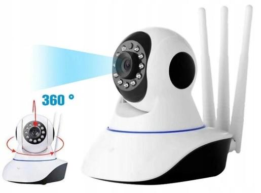 Kamera Wifi Niania Ip P2P Hd Obrotowa Monitoring