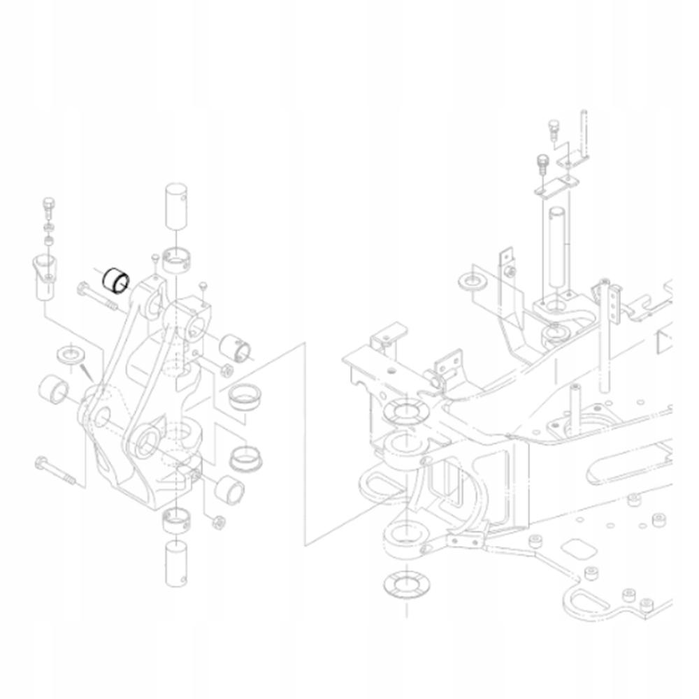 KUBOTA RG138-66590 Втулка задней бабки экскаватора KX018
