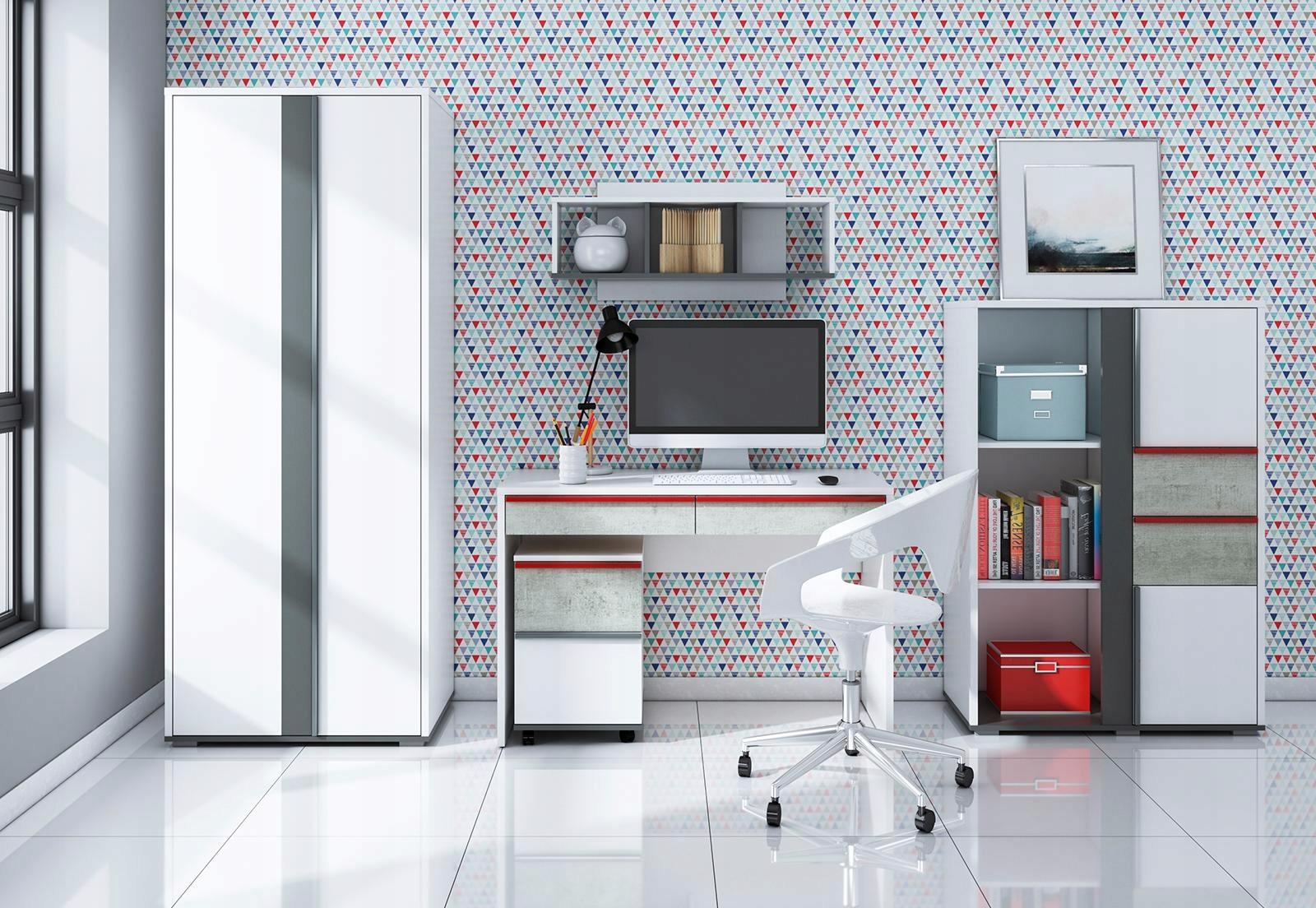 24 HODÍN! Nábytok DOPRAVNÉ 2 mládeže biela sivá biurk