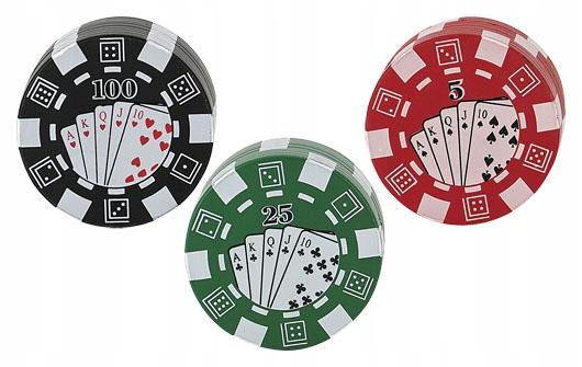 Młynek Grinder Crusher Poker GREEN