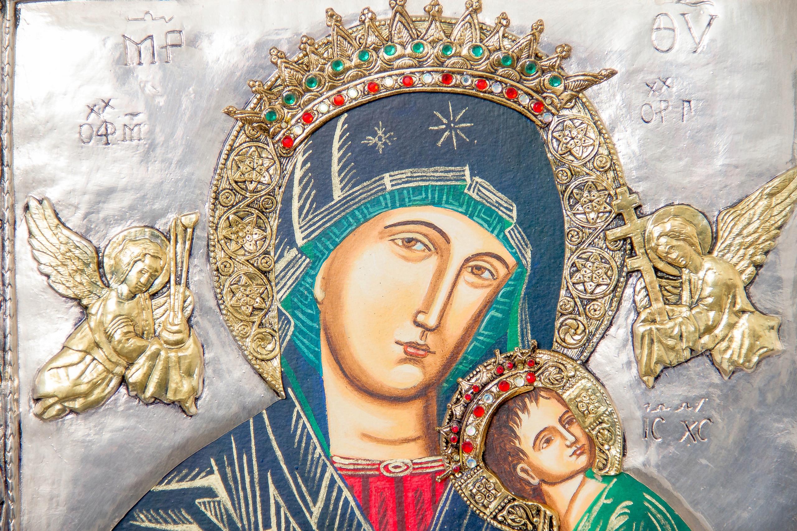 Ikona Koronowanej MB Nieustającej Pomocy nr 63P Rodzaj przedstawienia Matka Boża