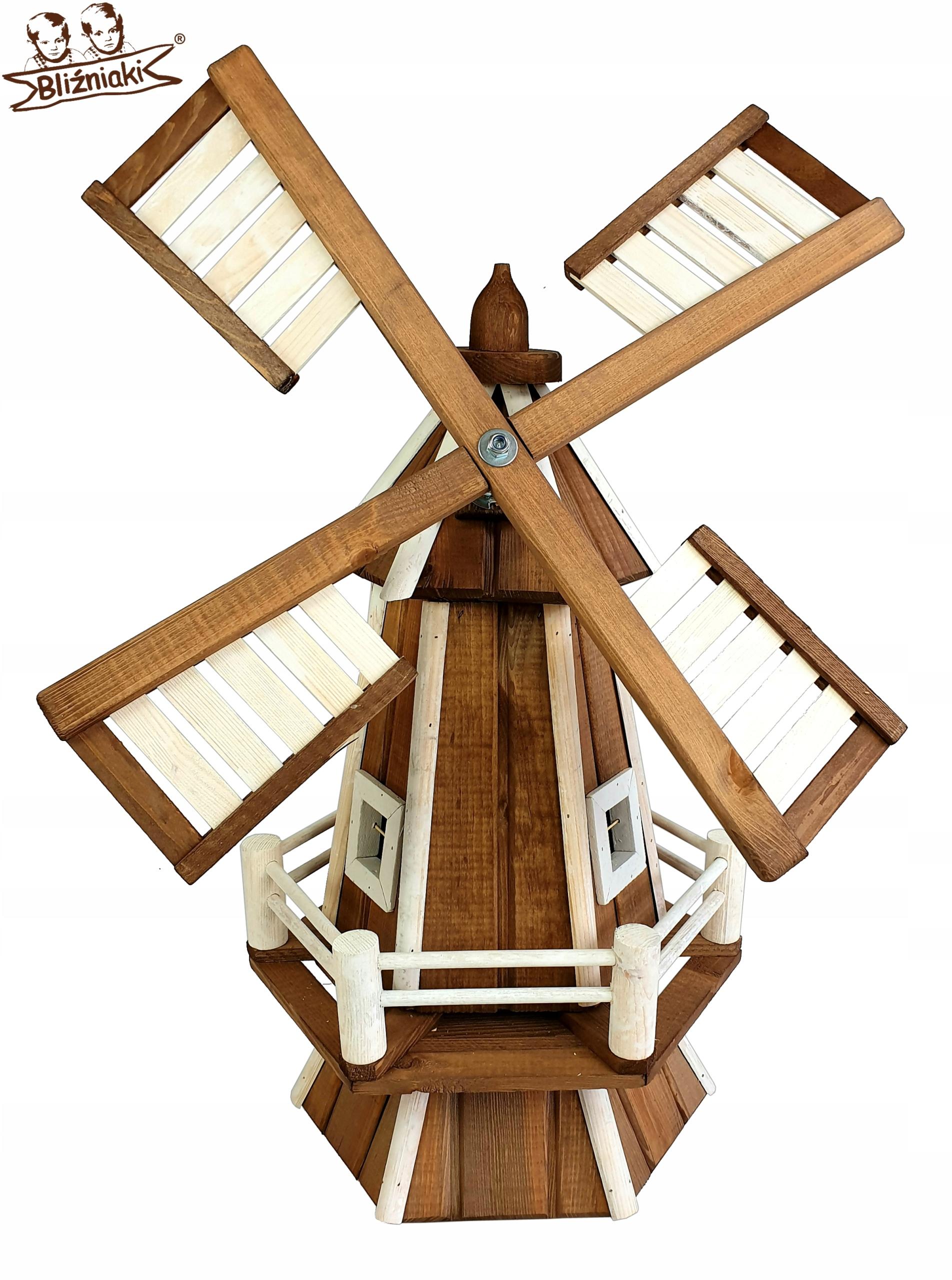 Mlyn 7 Farieb drevený záhradný veterný Mlyn