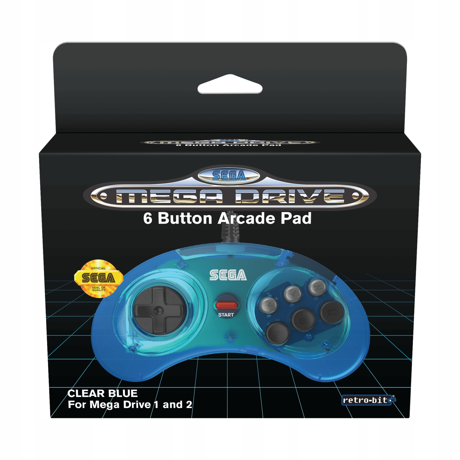 Item SEGA Mega Drive 1&2 Official Pad Clear Blue